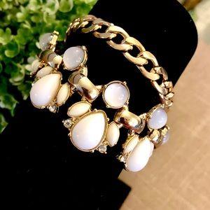 LEE ANGEL Capri Gold & White bracelet NWT $48